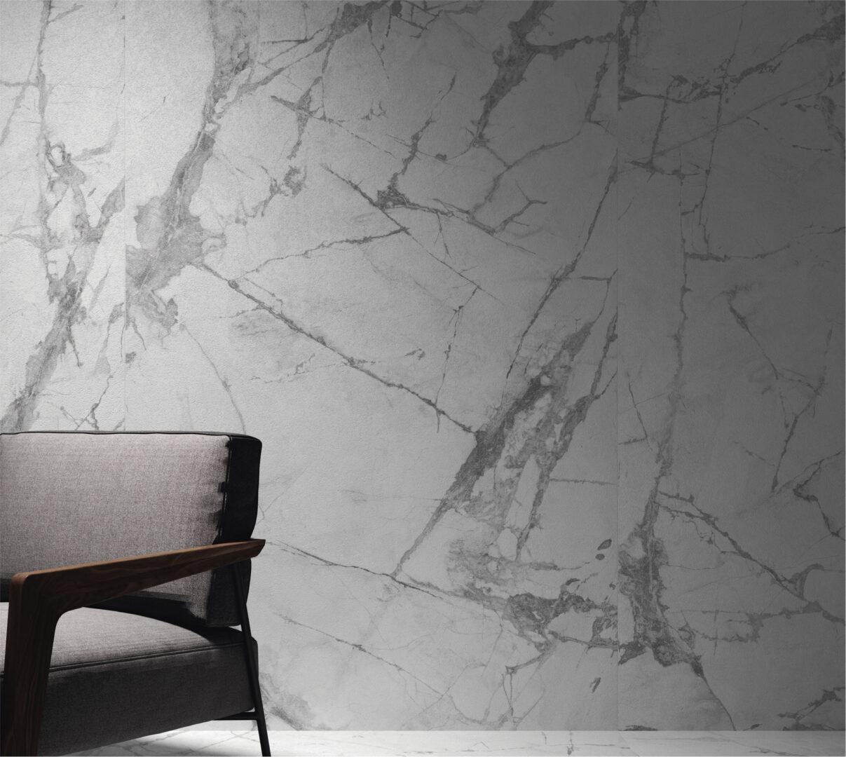 Azulejos imitación mármol de la colección blanc