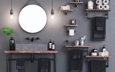 ¿Cómo conseguir un estilo industrial en tu baño?