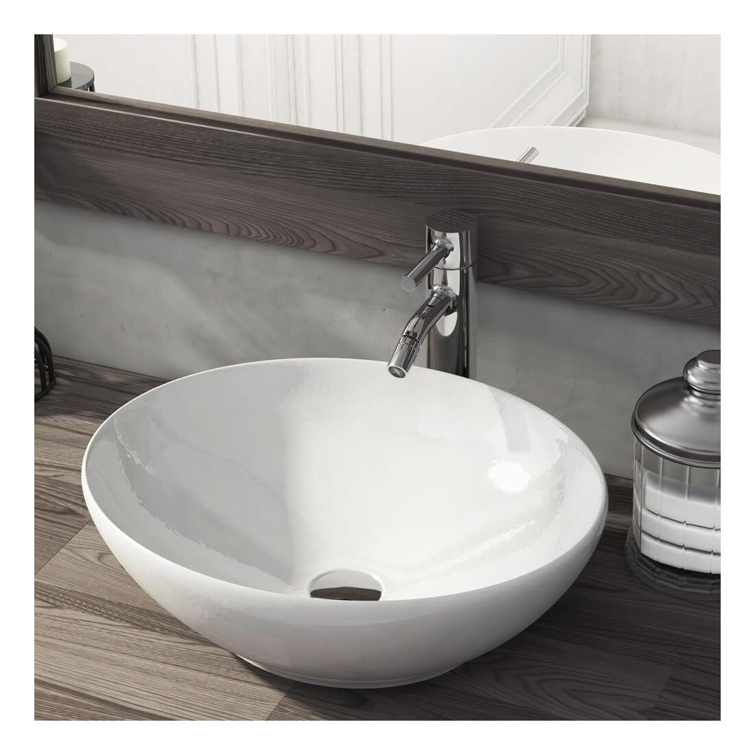 lavabo ovalado sobre encimera sun